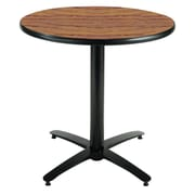 KFI Seating 29 x 36 Round HPL Pedestal Table With Arched Base, Medium Oak
