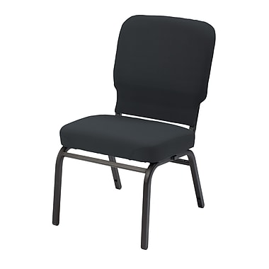 KFI Seating Vinyl Stack Chair, Black