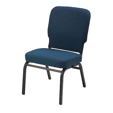 KFI seating HTB1040SB-3301 Fabric/Steel Stack Chair, Navy Blue