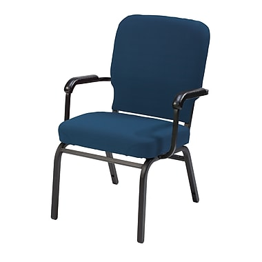 KFI Seating Vinyl Arms Stack Chair, Navy