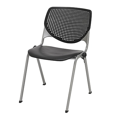 KFI Seating Polypropylene Stack Chairs With Perforated Back