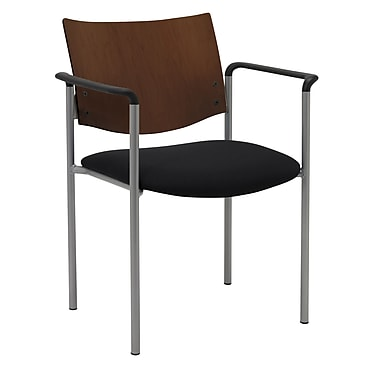 KFI Seating Steel Guest/Reception Chair, Black, 2/Carton (1311SL-S20-2902)