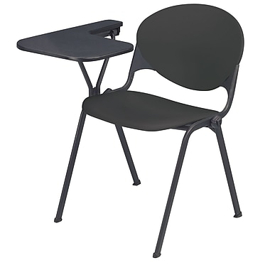 KFI Seating Polypropylene Chair With Left Hand P-Shaped Writing Tablet, Charcoal