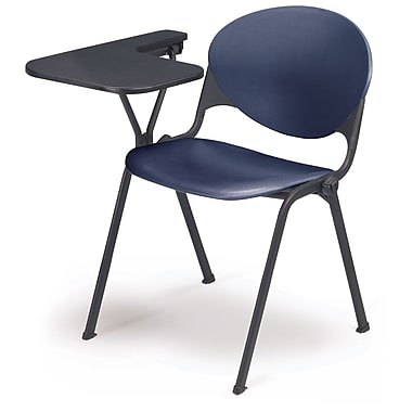 KFI Seating Polypropylene Chair With Left Hand P-Shaped Writing Tablet, Navy Blue
