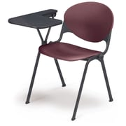 KFI Seating Polypropylene Chair With Right Hand P-Shaped Writing Tablet, Burgundy
