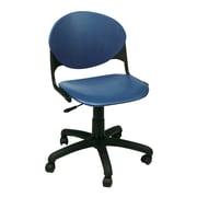 KFI Seating Plastic Low-Back Task Chair, Armless, Blue