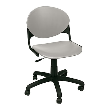 KFI Seating TK2000-P06 Plastic Low-Back Armless Task Chair, Cool Gray