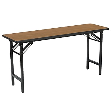 KFI Seating TFD Series 72in.W x 18in.D Melamine Multi-Purpose Training/Utility Table, Medium Oak