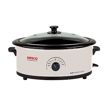 Nesco® 6 Quart Porcelain Cookwell Roaster Ovens With Glass Cover