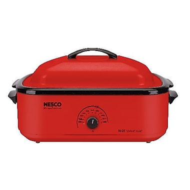 Nesco® 18 Quart Porcelain Cookwell Roaster Ovens