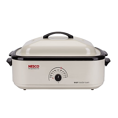 Nesco® 18 Quart Nonstick Cookwell Roaster Oven, Ivory White