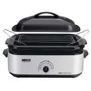 Nesco® 18 Quart Porcelain Cookwell Roaster Oven, Silver