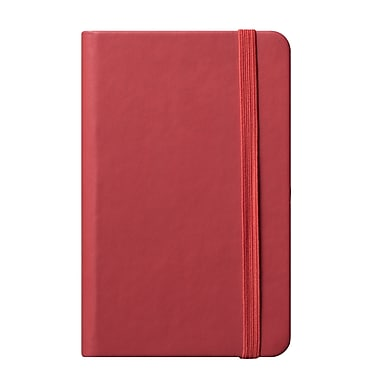 Eccolo™ Faux Leather Small Cool Jazz Pocket Journal, Red
