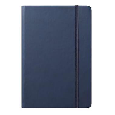 Eccolo™ Faux Leather Medium Cool Jazz Journal, Navy Blue