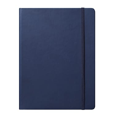 Eccolo™ Faux Leather Large Cool Jazz Journal, Navy Blue