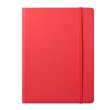 Eccolo™ Faux Leather Large Cool Jazz Journal, Red
