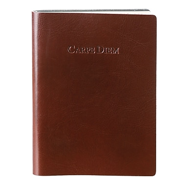 Eccolo™ Italian Leather Carpe Diem Journal, Dark Brown
