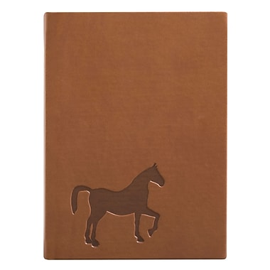 Eccolo™ Italian Faux Leather Horse Essential Collection Journal, Brown