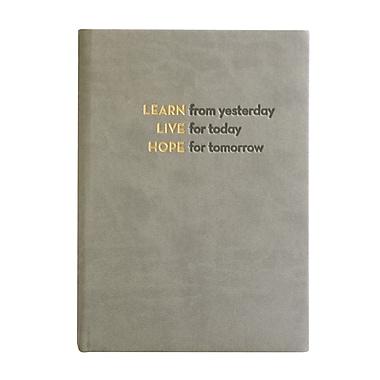 Eccolo™ Italian Faux Leather Learn, Live, Hope Journal, Gray