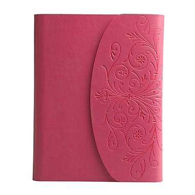 Eccolo™ Italian Faux Leather Metallic Flap Journal, Pink