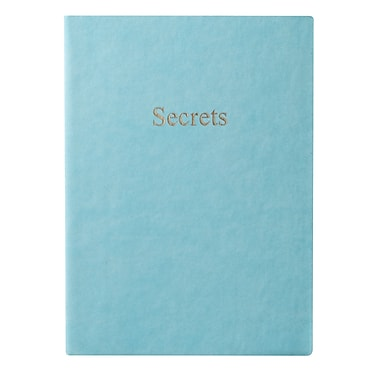 Eccolo™ Italian Faux Leather Secrets Journal, Powder Blue