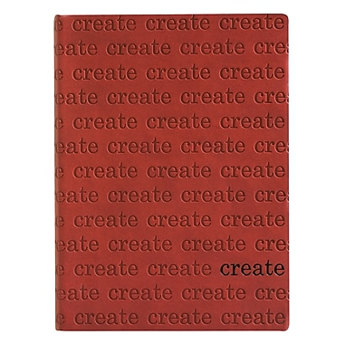 Eccolo™ Italian Faux Leather Create Allover Stamped Journal, Red