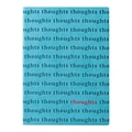 Eccolo™ Italian Faux Leather Thoughts Allover Stamped Journal, Light Blue