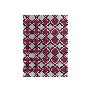 Eccolo™ Faux Leather Morrocan Tile Journal, Purple/Silver