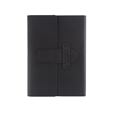 Eccolo™ Faux Leather Latch Journal, Black
