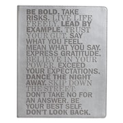 Eccolo™ Italian Faux Leather Be Bold Journal, Gray