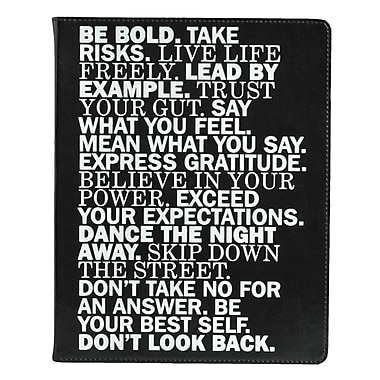 Eccolo™ Italian Faux Leather Be Bold Journal, Black