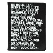 Eccolo™ Italian Faux Leather Be Bold Journal, Black