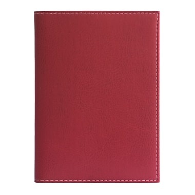Eccolo™ Faux Leather Pearl Refillable Journal, Red