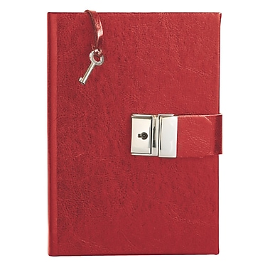 Eccolo™ Leather Locking Journal, Red