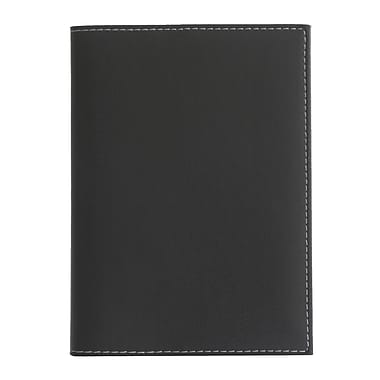 Eccolo™ Faux Leather Pearl Refillable Journal, Black
