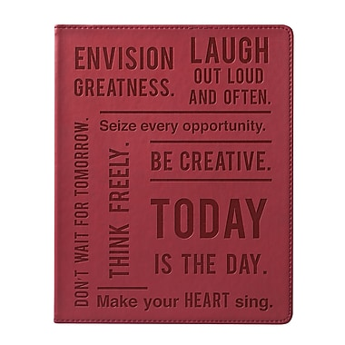 Eccolo™ Italian Faux Leather Be Creative Journal, Burgundy