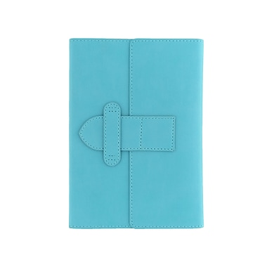 Eccolo™ Faux Leather Latch Journal, Turquoise