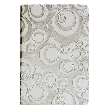 Eccolo™ Faux Leather Bubbles Journal, Silver
