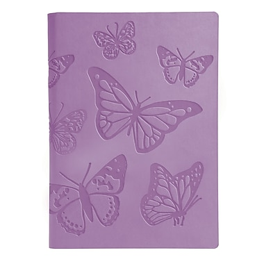 Eccolo™ Faux Leather Butterflies Journal, Lavender