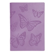 Eccolo™ Faux Leather Butterflies Journal, Lavender