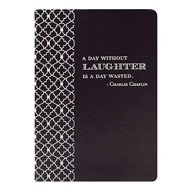 Eccolo™ Faux Leather A Day Without Laughter Journal, Black
