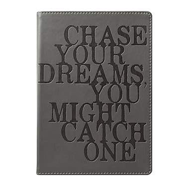 Eccolo™ Faux Leather Chase Your Dreams Journal, Gray
