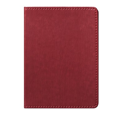 Eccolo™ Faux Leather Simple Pocket Size Journal, Red