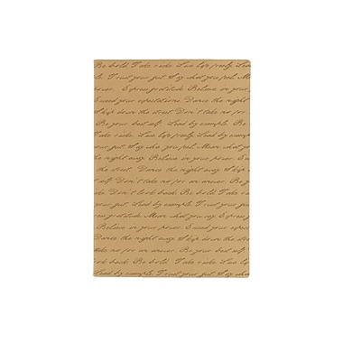 Eccolo™ Faux Leather Illegible Script Journal