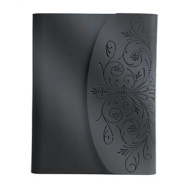 Eccolo™ Italian Faux Leather Metallic Flap Journal, Gunmetal