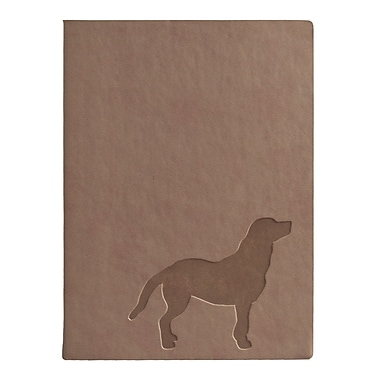 Eccolo™ Italian Faux Leather Walking the Dog Journal, Beige