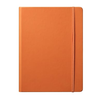Eccolo™ Faux Leather Large Cool Jazz Journal, Orange