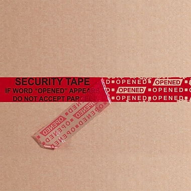 Tape Logic 2in. x 9in. x 2.5 mil Secure Tape Strip, Red, 100/Case
