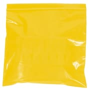 BOX 12 x 15 x 2 mil Reclosable Poly Bags, Yellow, 1000/Case