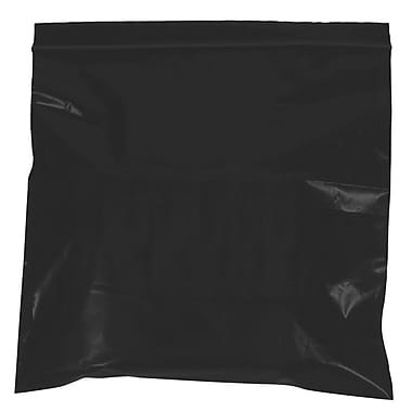 BOX 5in. x 8in. x 2 mil Reclosable Poly Bags, Black, 1000/Case
